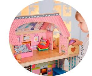 Детские модели кукольных домиков