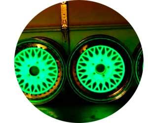 Покраска автомобильных дисков люминесцентной краской