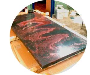 Производство мрамора на бетонной основе