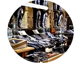 Необычный магазин джинсов