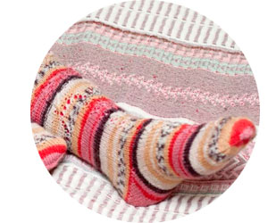Вязаные оригинальных шерстяных носков
