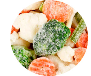 Замороженные фрукты и овощи